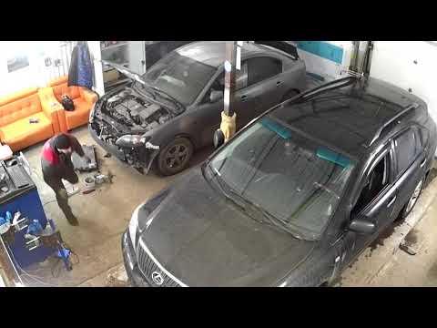Взрыв пневмобаллона Lexus RX