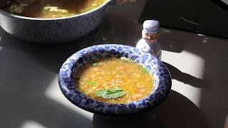 Сытный и пряный суп из трех круп
