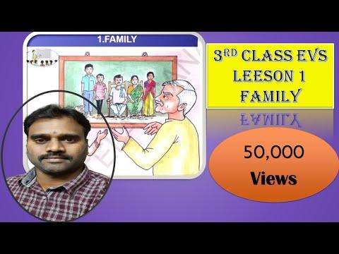 3rd Class EVS EM Unit-I (Family ) Part1 (Telangana Primary school digital lessons)
