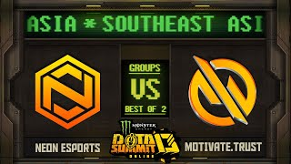 Neon vs MG.Trust Game 2 - Monster Energy Dota Summit 13 Online SEA: Groups w/ SeekNStrike & Avo+