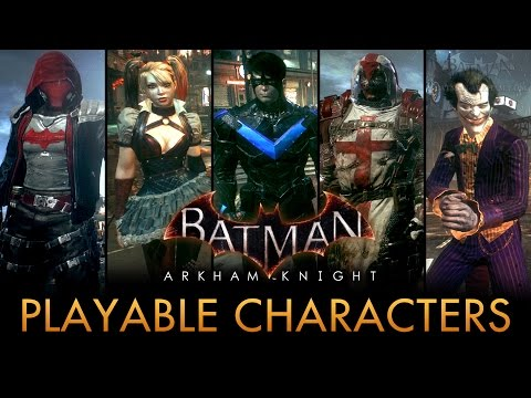 Batman: Arkham Knight - Playable Characters Mod (Free Roam)