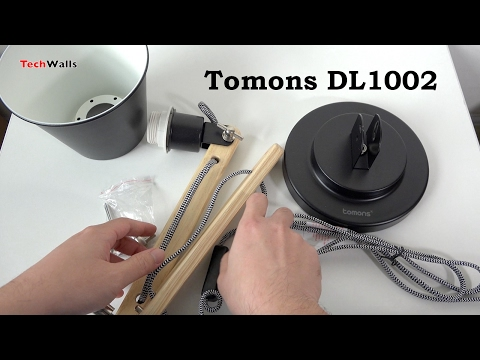 Tomons Dl1002 Scandinavian Wood Desk Lamp Unboxing Assembly Youtube