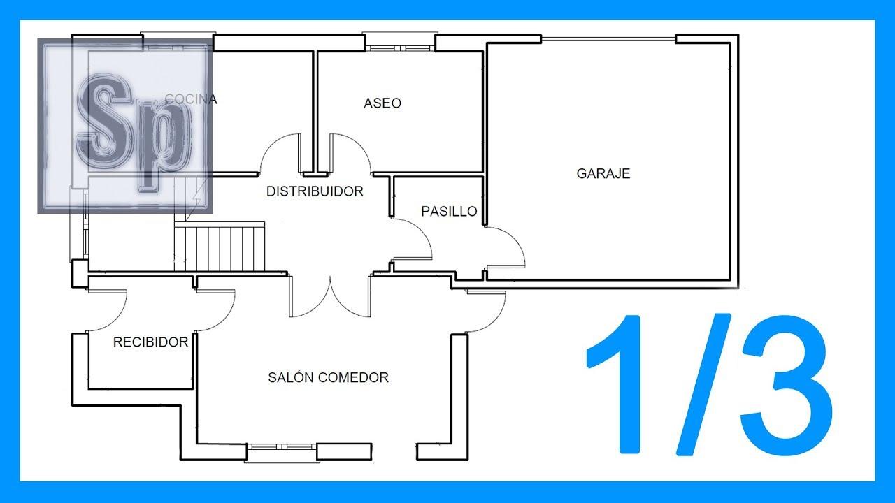 Autocad 1 3 Dibujar El Plano De Una Casa Paso A Paso En