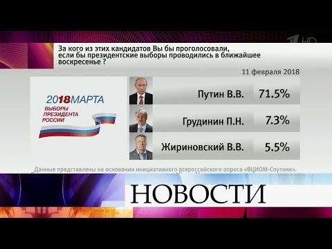 Рейтинги кандидатов в президенты обнародовал Всероссийский центр изучения общественного мнения. - Смотреть видео онлайн