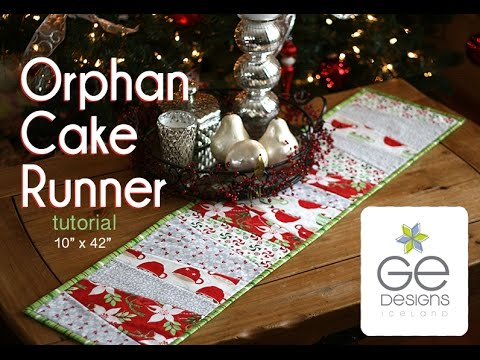 Layer Cake Quilt As You Go : Orphan Cake Runner tutorial by Gudrun Erla from GE Designs ...