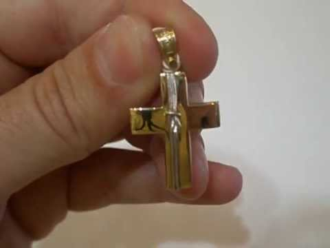 Αντρικός σταυρός δίχρωμος ΤΡΙΑΝΤΟΣ (μασίφ 1159)