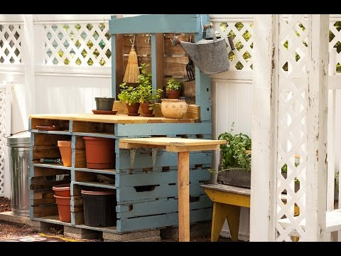 pallet-potting-bench
