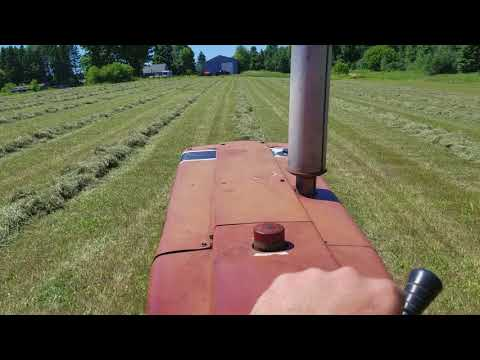 International 766 baling hay with john...