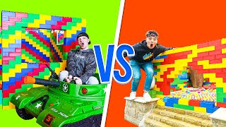 PRESTON vs UNSPEAKABLE LEGO HOUSE BATTLE!
