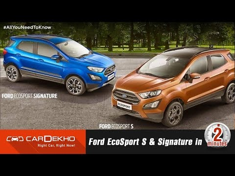 Ford EcoSport S and Signature   Sunroof, EcoBoost, Prices and More!   #In2Mins