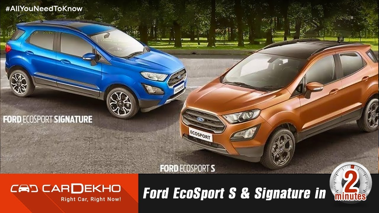 Sportier Ford Ecosport S With Sunroof To Launch In May 2018