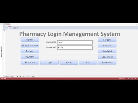 How to Create Pharmacy Management System in  Access using VBA - Full Tutorial