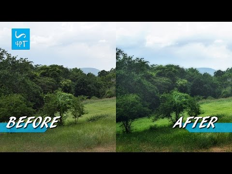 Monday Morning Effect to a Landscape Photograph, Photography Post processing Photoshop Tutorial