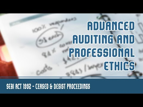 Securities & Exchange Board Of India [SEBI Act 1992] | Cease Proceedings [Section 11(D)] | Part 8 B