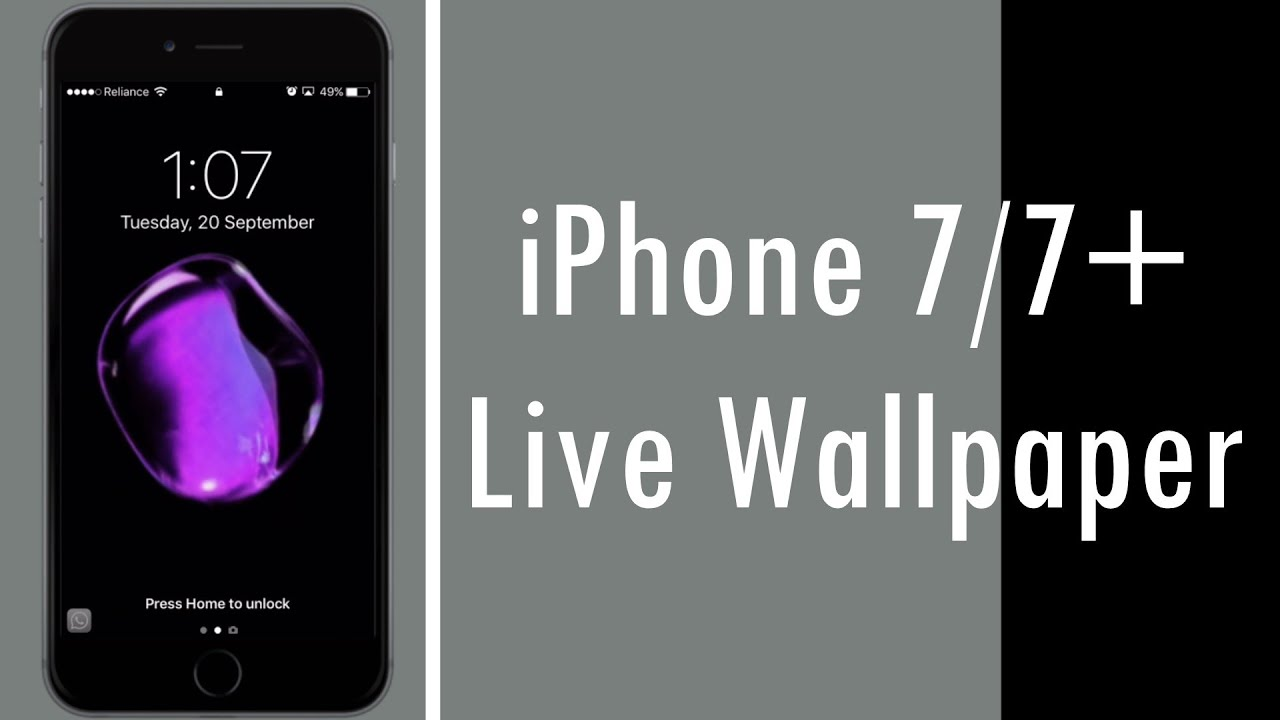 iPhone 7/7+ Live Wallpaper for iPhone 6s/6s+ - YouTube