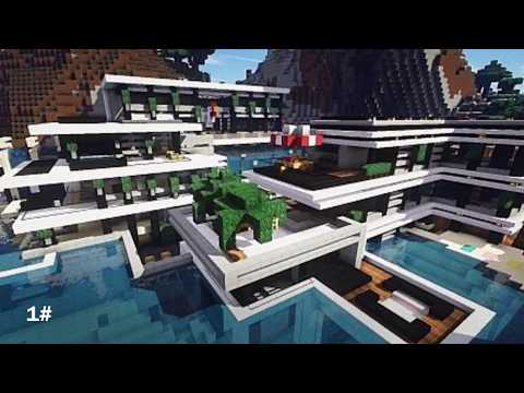Top 10 des plus belle maison moderne minecraft youtube for Belle maison minecraft