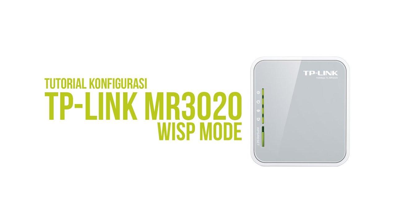 Cara Konfigurasi TP-Link MR3020 WISP Mode