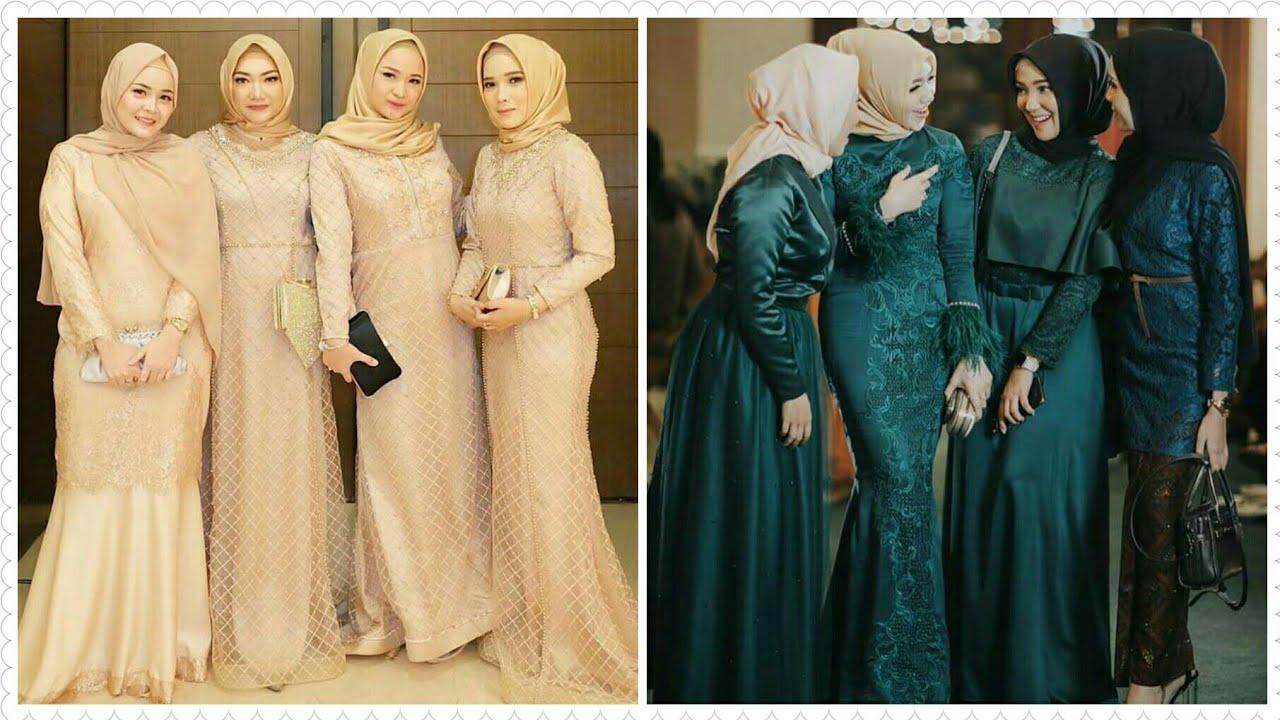 12 Model Baju Gamis Brokat Pesta Pernikahan Terbaru 12/12