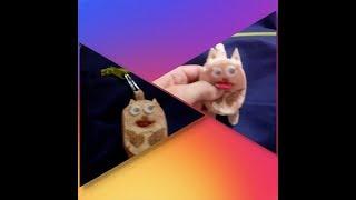 DIY Брелок кот своими руками из фетра