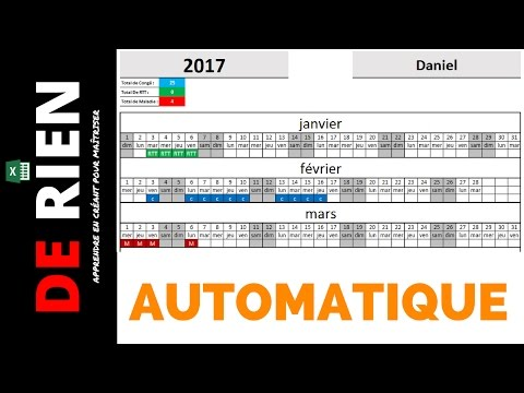 aperçu d'absence personnelle automatique | Tutoriel Excel -