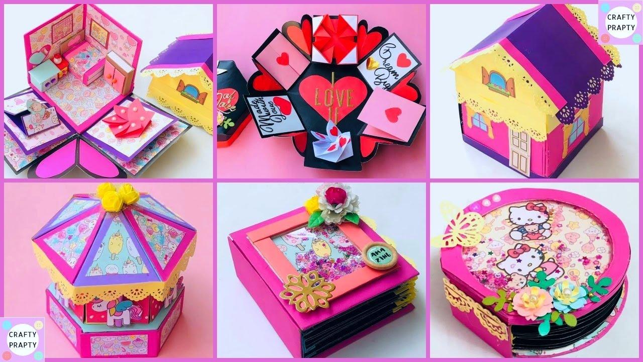 DIY 5 Scrapbook and Explosion Box/Explosion Box Tutorial/Scrapbook for BIRTHDAY