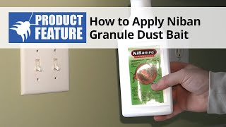 How to Apply NiBan Fine Granule Dust Bait in Your Home