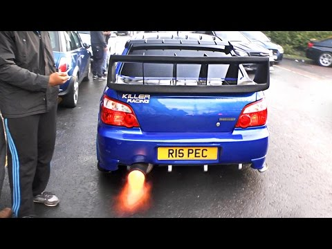 Subaru Impreza WRX Cosworth - Anti Lag FLAMES!