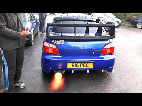 Subaru Impreza WRX Cosworth - Anti Lag FLAMES!