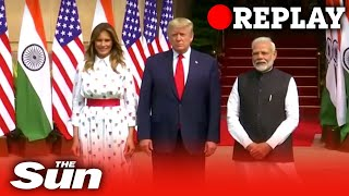 US President Donald Trump continues his Indian state visit in New Dehli