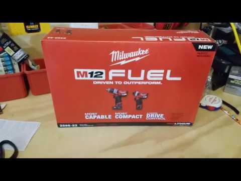 Milwaukee 12v Fuel GEN 2 Hammer Drill And Impact Driver Unboxing ...LIVE !!!!