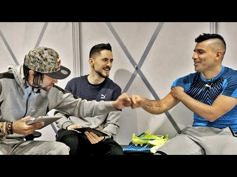 Poet and Vuj meet Sergio Aguero