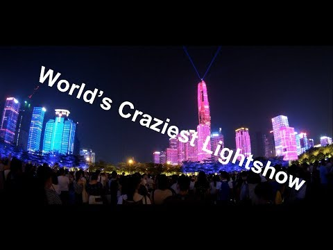 World's Most Amazing  Lightshow and its free?  #shenzhen