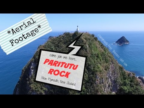 Aerial Footage - Paritutu Rock Climb - New Plymouth, New Zealand | Courageously Free Travelers
