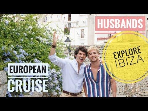 HUSBANDS EXPLORE IBIZA SPAIN   European Cruise   Gay Couple   PJ & Thomas