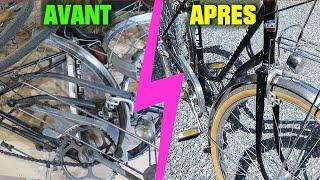 Tuto Fin de restauration vélo vintage pour femme simple facile pour 1€ - vélo Lejeune