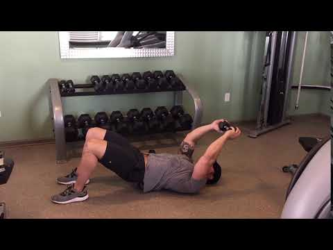 Lying Dumbbell Pullover to Tricep Extensions - YouTube