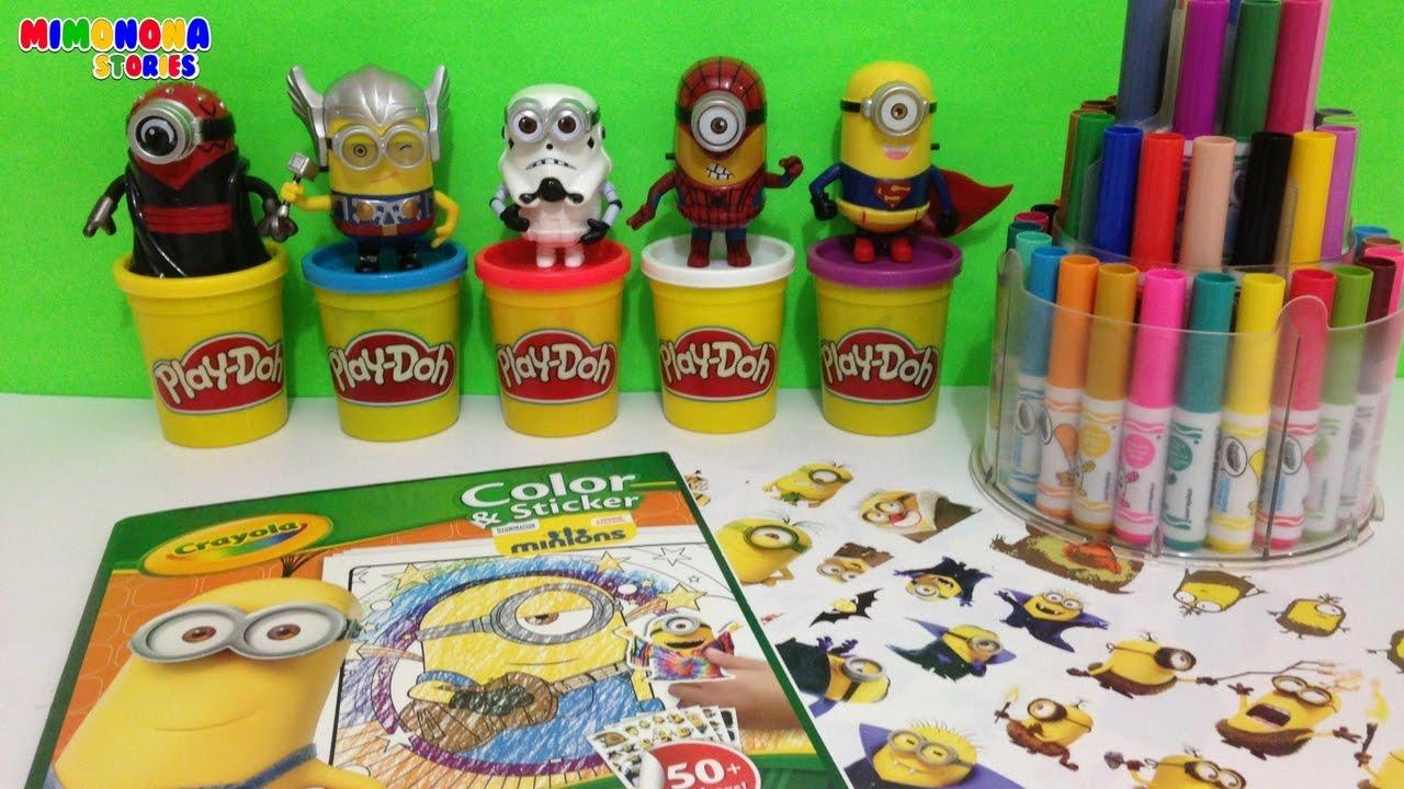 Libro de Minions para colorear - Minions Coloring Book - Mimonona ...