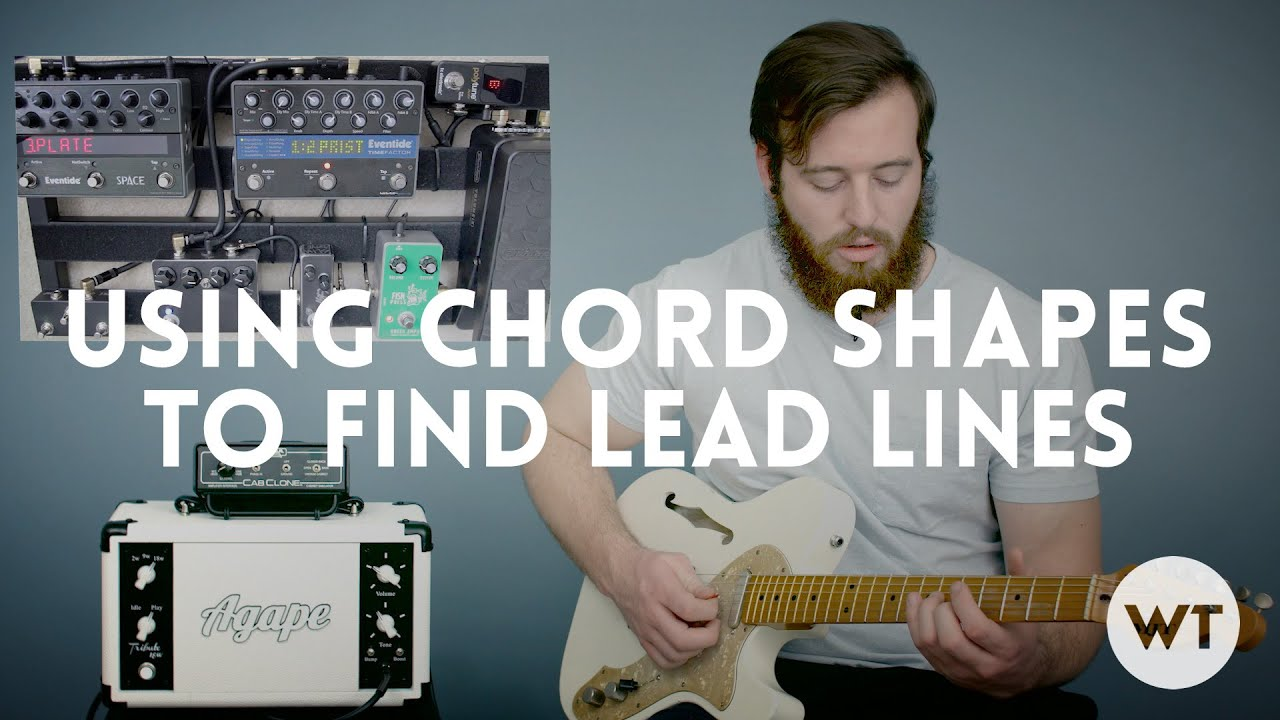 Lead Guitar Lesson Use Chord Shapes To Find Lead Lines Youtube