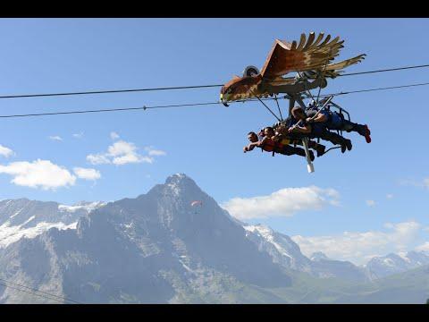 Switzerland , Grindelwald - First Mountain Glider - Racheli & Idan