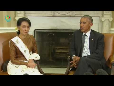 President Obama meets Myanmar Daw Aung San Suu Kyi to lift sanction