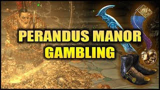 Perandus Manor is a unique map in Path of Exile that is highly expe...