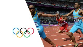 Manteo Mitchell (USA) Breaks Legs During 4 x 400m Relay - London 2012 Olympics