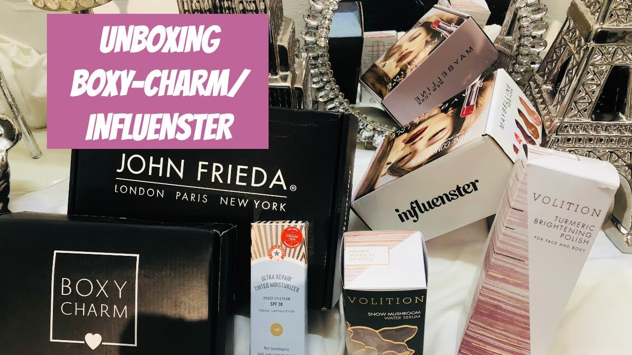 unboxing boxy charm influenster youtube