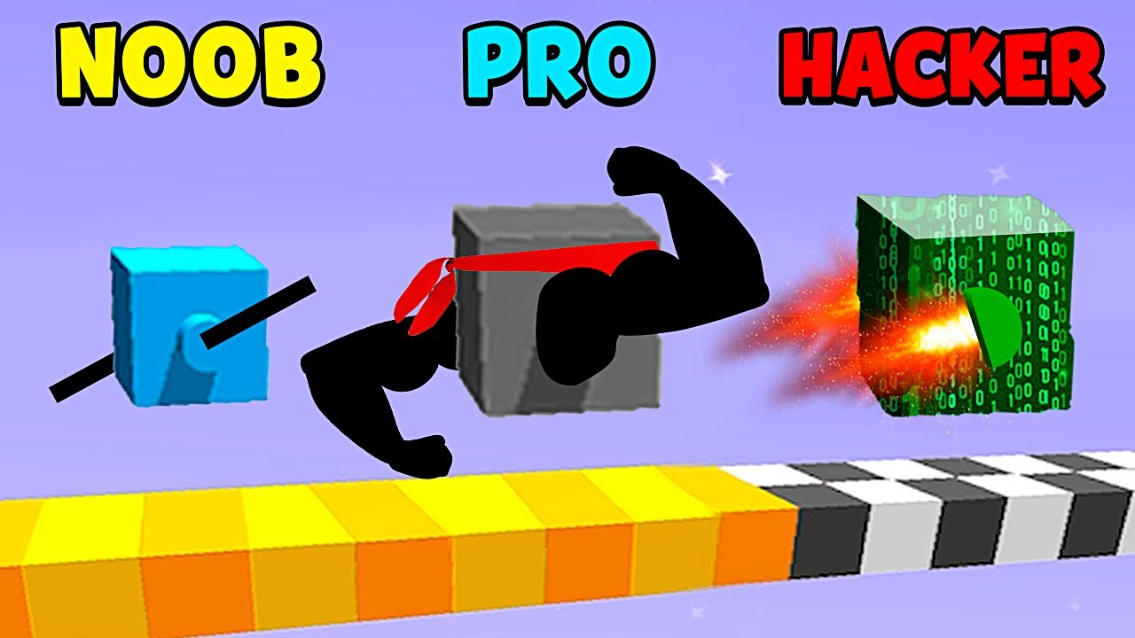 NOOB vs PRO vs HACKER - Draw Climber