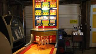 Vintage Chicago Coin Hi-Speed Triple Score Bowler Shuffle Alley Coin Operated 1950s | Jonathan Bytof