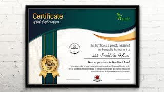 certificate Template Design - Photoshop CC Tutorial
