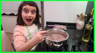 Nefis Çikolatalı Puding Yaptık