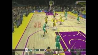 NBA Live 08 PlayStation 2 Gameplay - Lakers Vs. Celtics