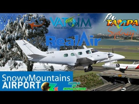 Realair Beech BE60 Duke on Vatsim. OZx Cooma to FlyTampa YSSY