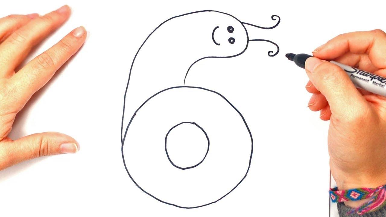 Como dibujar el Numero 6 Paso a Paso - YouTube